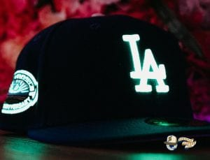 Hat Club Exclusive MLB Side Patch Glow In The Dark 59Fifty Fitted Hat Collection by MLB x New Era Dodgers