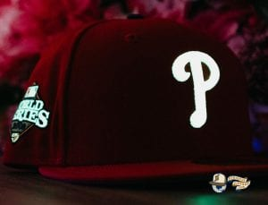 Hat Club Exclusive MLB Side Patch Glow In The Dark 59Fifty Fitted Hat Collection by MLB x New Era Phillies