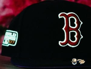 Hat Club Exclusive MLB Side Patch Glow In The Dark 59Fifty Fitted Hat Collection by MLB x New Era Redsox
