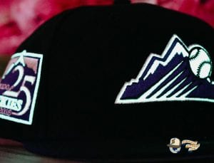 Hat Club Exclusive MLB Side Patch Glow In The Dark 59Fifty Fitted Hat Collection by MLB x New Era Rockies