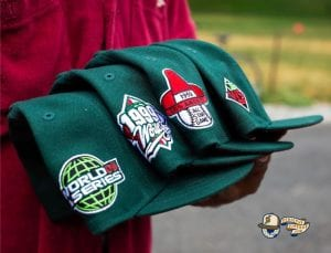 Hat Club Exclusive MLB Watermelon Red UV 59Fifty Fitted Hat Collection by MLB x New Era Side