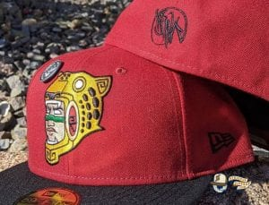 Jag Warrior Sedona Black 59Fifty Fitted Hat by Dankadelik x New Era Back