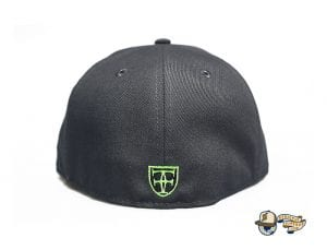Kamehameha Dark Graphite Neon Green 59Fifty Fitted Cap by Fitted Hawaii x New Era Back
