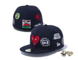 Keith Haring 2020 59Fifty Fitted Cap Collection by Keith Haring x New Era Multilogo