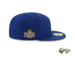 Los Angeles Dodgers World Series Champions Side Patch 59Fifty Fitted Cap by MLB x New Era Right