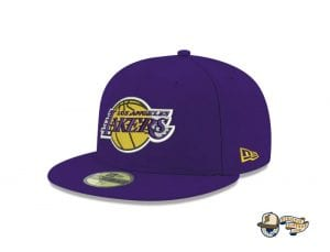 Los Angeles Lakers NBA Champions Side Patch 59Fifty Fitted Cap by NBA x New Era Left