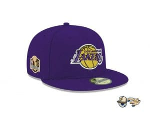 Los Angeles Lakers NBA Champions Side Patch 59Fifty Fitted Cap by NBA x New Era Right