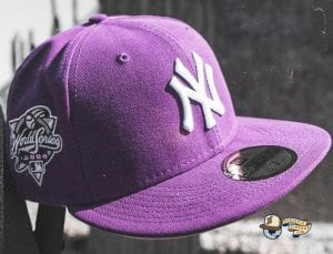 New York Yankees 2000 World Series Purple Pink Bottom 59Fifty Fitted Hat by MLB x New Era Side