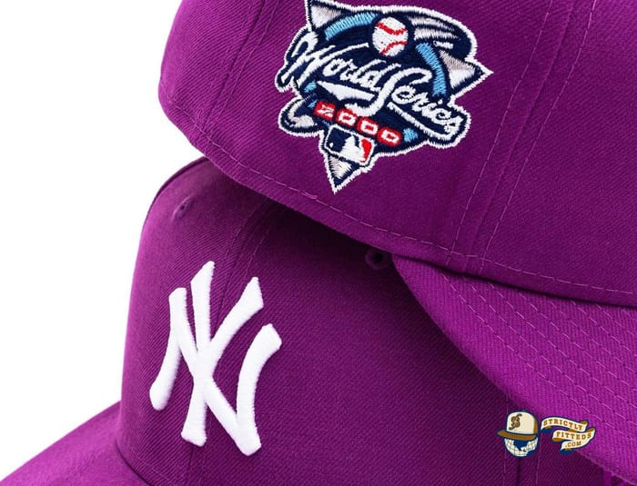 New York Yankees 2000 World Series Purple Pink Bottom 59Fifty Fitted Hat by MLB x New Era