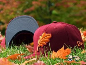 Oak Leaf 59Fifty Fitted Cap by Noble North x New Era Cardinal