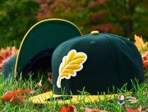 Oak Leaf 59Fifty Fitted Cap by Noble North x New Era Green