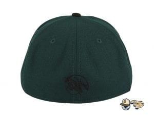 Revolutionary Skull Green Black 59Fifty Fitted Hat by Dankadelik x New Era Back