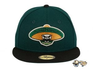 Revolutionary Skull Green Black 59Fifty Fitted Hat by Dankadelik x New Era Front