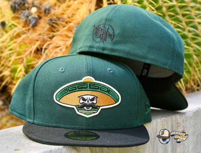 Revolutionary Skull Green Black 59Fifty Fitted Hat by Dankadelik x New Era