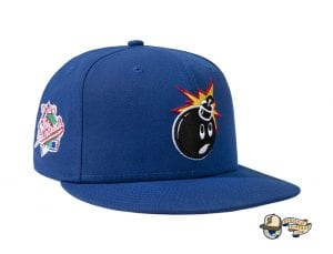 Adam Bomb 59Fifty Fitted Cap by The Hundreds x New Era Blue