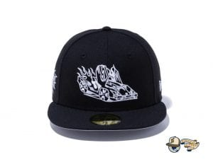 Bear Explorer Black Red 59Fifty Fitted Hat by Noble North x New Era Side
