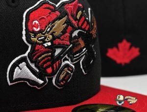 Beaverjax Black Red 59Fifty Fitted Cap by Noble North x New Era Front