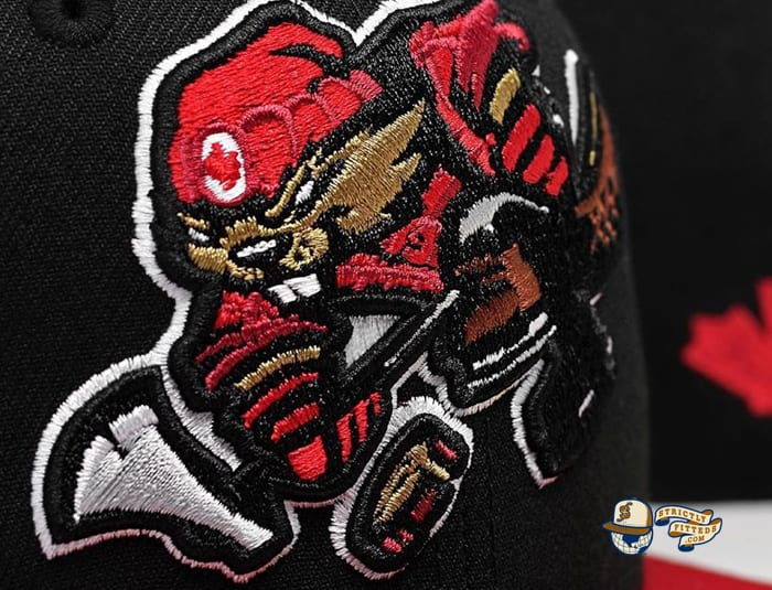 Beaverjax Black Red 59Fifty Fitted Cap by Noble North x New Era