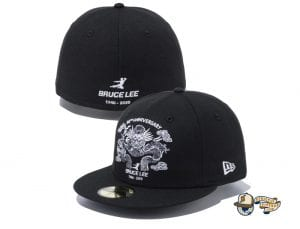 Bruce Lee 80th Anniversary 59Fifty Fitted Cap Collection by Bruce Lee x New Era Black