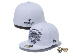 Bruce Lee 80th Anniversary 59Fifty Fitted Cap Collection by Bruce Lee x New Era White