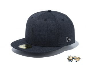 Chambray Metal Logo 59Fifty Fitted Cap by New Era