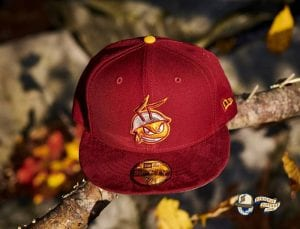 FireAnt Cardinal Suede Visor 59Fifty Fitted Hat by Dionic x New Era Front