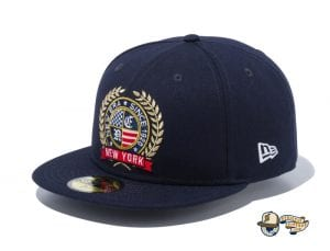 Logo Emblem 59Fifty Fitted Cap by New Era Navy