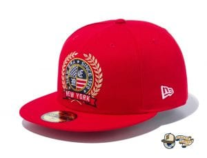 Logo Emblem 59Fifty Fitted Cap by New Era Red