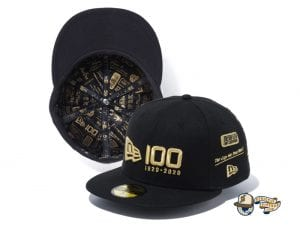 New Era 100th Anniversary Multi Logo Front 59Fifty Fitted Cap by New Era