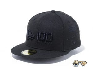 New Era 100th Anniversary Multi Logo Front 59Fifty Fitted Cap by New Era Front