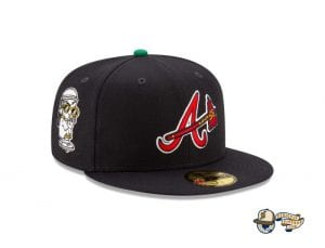 Offset x Atlanta Braves 59Fifty Fitted Cap Collection by Offset x MLB x New Era Navy