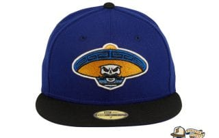 Revolutionary Alternate Royal Blue Black 59Fifty Fitted Hat by Dankadelik x New Era