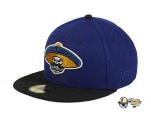 ry Alternate Royal Blue Black 59Fifty Fitted Hat by Dankadelik x New Era Side