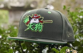 Tengu Warrior Dark Seaweed Island Green 59Fifty Fitted Cap by Dionic x New Era