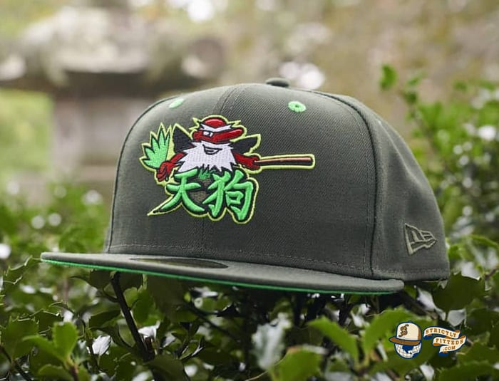Tengu Warrior Dark Seaweed Island Green 59Fifty Fitted Cap by Dionic x New Era