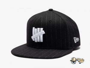 Undefeated Wool Pinstripe 59Fifty Fitted Cap by Undefeated x New Era Black