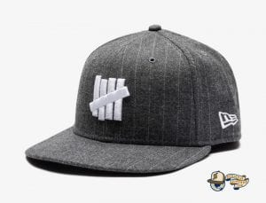 Undefeated Wool Pinstripe 59Fifty Fitted Cap by Undefeated x New Era Grey