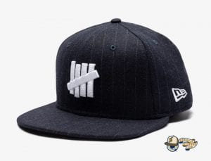 Undefeated Wool Pinstripe 59Fifty Fitted Cap by Undefeated x New Era Navy