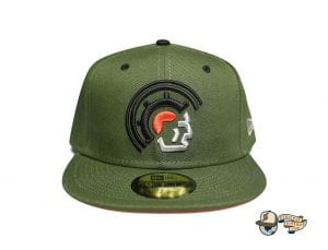 Vanguard Olive Orange 59Fifty Fitted Cap by Fitted Hawaii x New Era
