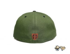 Vanguard Olive Orange 59Fifty Fitted Cap by Fitted Hawaii x New Era Back