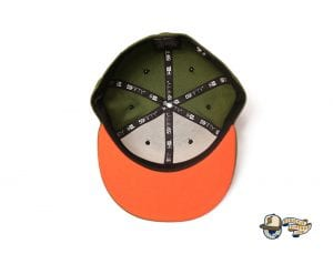 Vanguard Olive Orange 59Fifty Fitted Cap by Fitted Hawaii x New Era Bottom