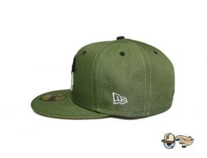 Vanguard Olive Orange 59Fifty Fitted Cap by Fitted Hawaii x New Era Side