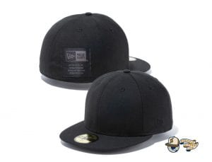 Black Label Patch 59Fifty Fitted Cap Collection by New Era Black