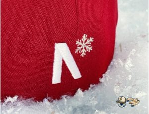 Frost-Eh Red Icy Silver 59Fifty Fitted Cap by Noble North x New Era Back