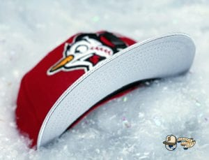 Frost-Eh Red Icy Silver 59Fifty Fitted Cap by Noble North x New Era Visor