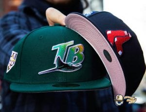 MLB Pink Bottom December 1 59Fifty Fitted Hat Collection by MLB x New Era Front