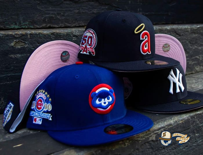 MLB Pink Bottom December 1 59Fifty Fitted Hat Collection by MLB x New Era
