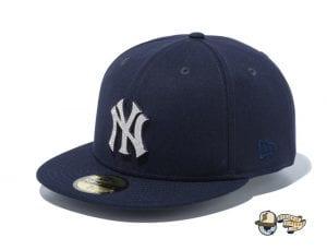 New York Yankees Rhinestone Badge 59Fifty Fitted Cap by MLB x New Era Navy