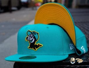 Seals Teal Gold 59Fifty Fitted Hat by Chamucos Studio x New Era