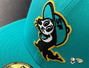 Seals Teal Gold 59Fifty Fitted Hat by Chamucos Studio x New Era Zoom